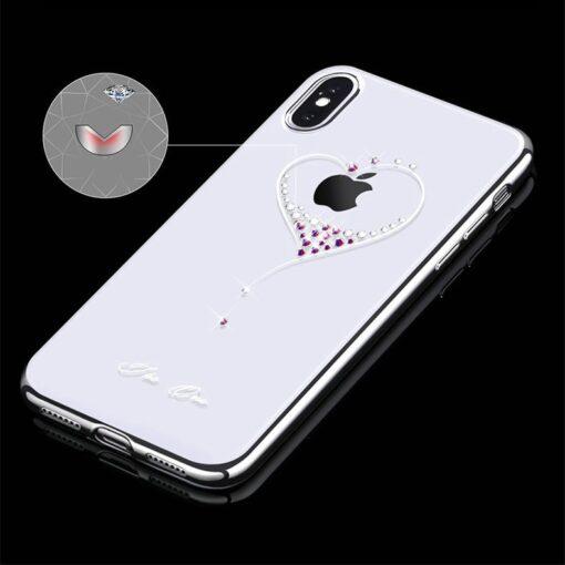 Kingxbar Wish Series case decorated with original Swarovski crystals iPhone 11 silver 3