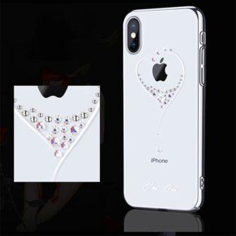 Kingxbar Wish Series case decorated with original Swarovski crystals iPhone 11 silver 5
