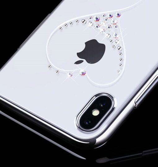 Kingxbar Wish Series case decorated with original Swarovski crystals iPhone 11 silver 6