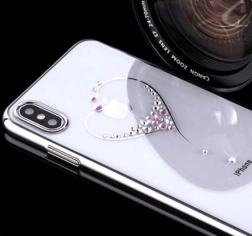 Kingxbar Wish Series case decorated with original Swarovski crystals iPhone 11 silver 7