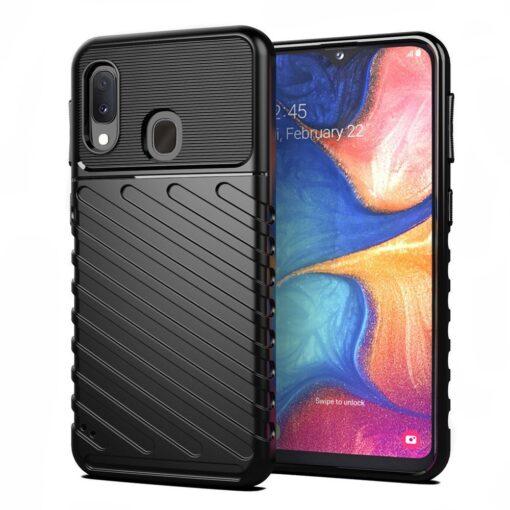 Samsung A20e ümbris silikoonist tugev must 2