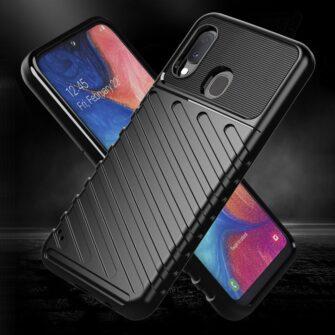Samsung A20e ümbris silikoonist tugev must 3