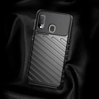 Samsung A20e ümbris silikoonist tugev must 4