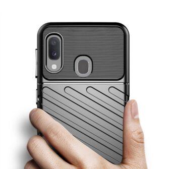 Samsung A20e ümbris silikoonist tugev must 5