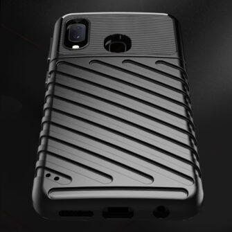 Samsung A20e ümbris silikoonist tugev must 7