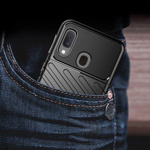 Samsung A20e ümbris silikoonist tugev must 9
