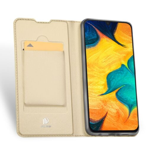 Samsung A20e kaaned DUX DUCIS Skin Pro Bookcase kuldne 4