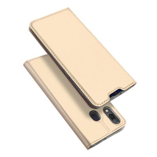 Samsung A20e kaaned DUX DUCIS Skin Pro Bookcase kuldne