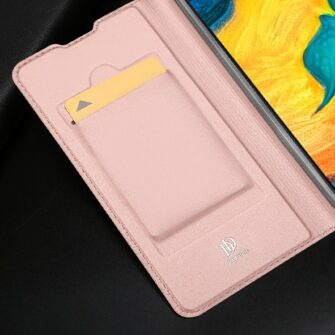 Samsung A20e kaaned DUX DUCIS Skin Pro Bookcase roosa 13