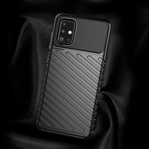 Samsung A51 ümbris silikoonist tugev must 3