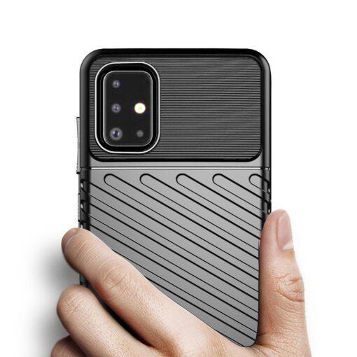 Samsung A51 ümbris silikoonist tugev must 4