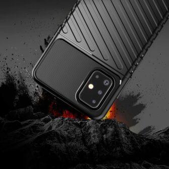 Samsung A51 ümbris silikoonist tugev must 5