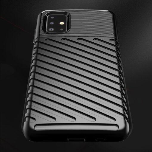 Samsung A51 ümbris silikoonist tugev must 6
