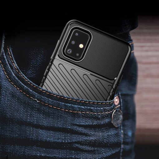 Samsung A51 ümbris silikoonist tugev must 7
