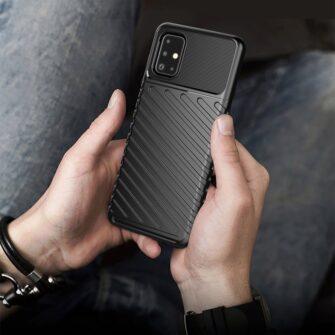 Samsung A51 ümbris silikoonist tugev must 8