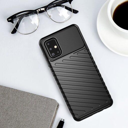 Samsung A51 ümbris silikoonist tugev must 9