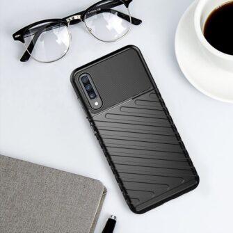 Samsung A70 tugev ümbris silikoonist must 1