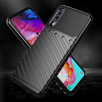 Samsung A70 tugev ümbris silikoonist must 3