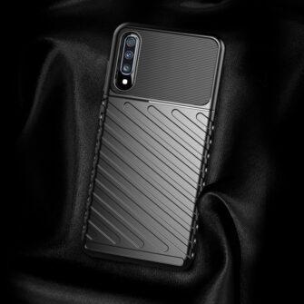 Samsung A70 tugev ümbris silikoonist must 4