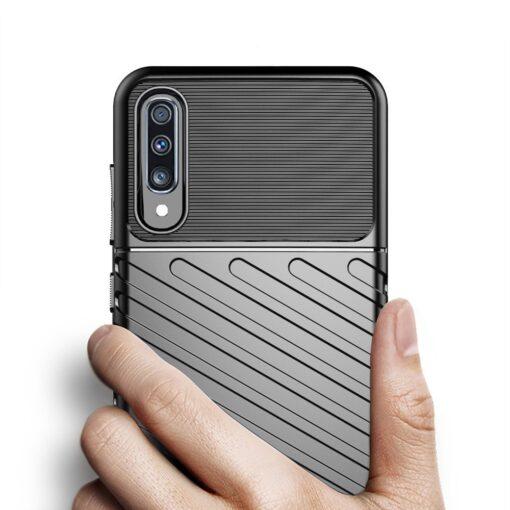 Samsung A70 tugev ümbris silikoonist must 5