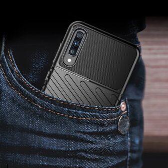 Samsung A70 tugev ümbris silikoonist must 9