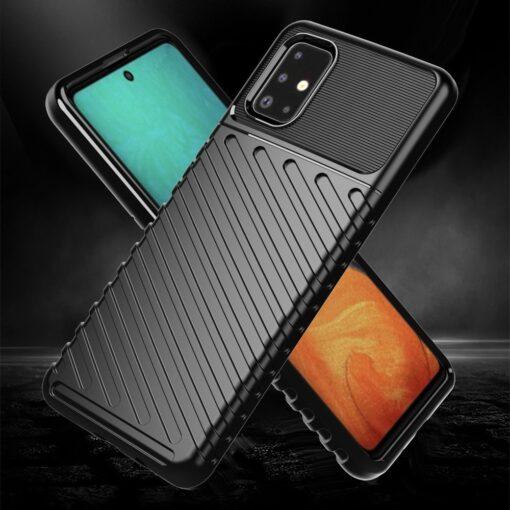 Samsung A71 tugev ümbris must silikoonist 3