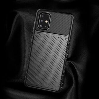 Samsung A71 tugev ümbris must silikoonist 7