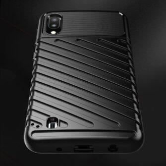 Samsung Galaxy A10 tugev ümbris silikoonist must 7