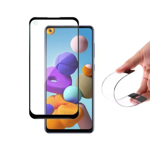 Samsung Galaxy A21S hybrid flex 9h kaitseklaas täisekraan min