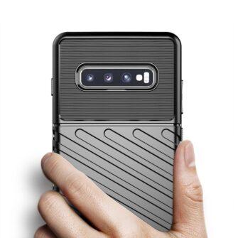 Samsung S10 ümbris tugev silikoonist must 12