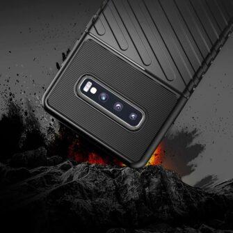 Samsung S10 ümbris tugev silikoonist must 13