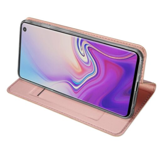 Samsung S10 kaaned DUX DUCIS Skin Pro Bookcase roosa 4