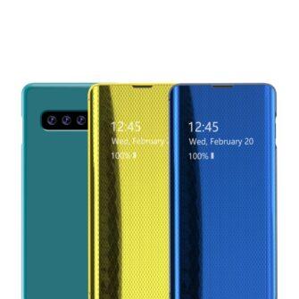 Samsung S10 kaaned Flip plastikust hõbe 1