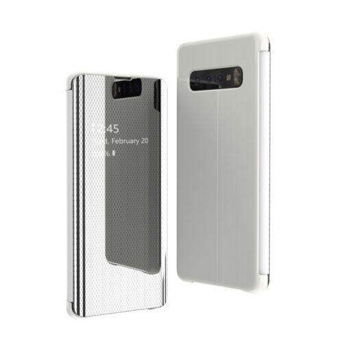 Samsung S10 kaaned Flip plastikust hõbe