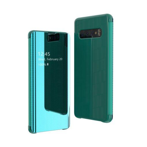 Samsung S10 kaaned Flip plastikust roheline