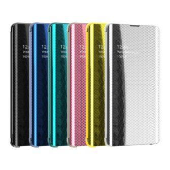Samsung S10 kaaned Flip plastikust roosa 2