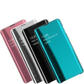 Samsung S10 kaaned Flip plastikust roosa 3
