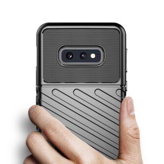 Samsung S10e ümbris silikoonist tugev must 5
