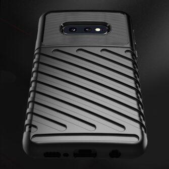 Samsung S10e ümbris silikoonist tugev must 7