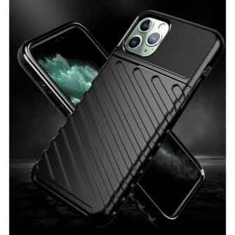 iPhone 11 Pro Max ümbris silikoonist tugev must 1
