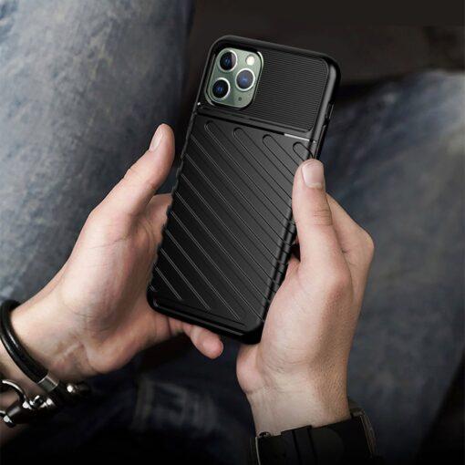 iPhone 11 Pro Max ümbris silikoonist tugev must 6