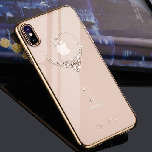 iPhone 11 kingxbar kuldne swarowski kristallidega ümbris 2