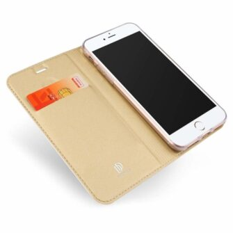 iPhone 8 Plus ja iPhone 7 Plus kaaned DUX DUCIS Skin Pro Bookcase kuldne 1
