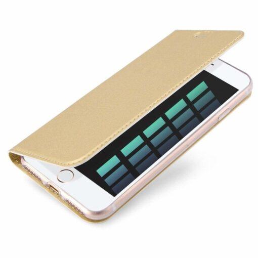 iPhone 8 Plus ja iPhone 7 Plus kaaned DUX DUCIS Skin Pro Bookcase kuldne 2