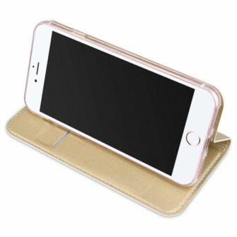 iPhone 8 Plus ja iPhone 7 Plus kaaned DUX DUCIS Skin Pro Bookcase kuldne 3