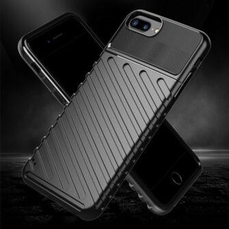 iPhone 8 Plus silikoonist ümbris must tugev 2