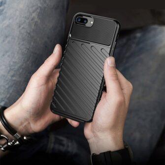 iPhone 8 Plus silikoonist ümbris must tugev 7