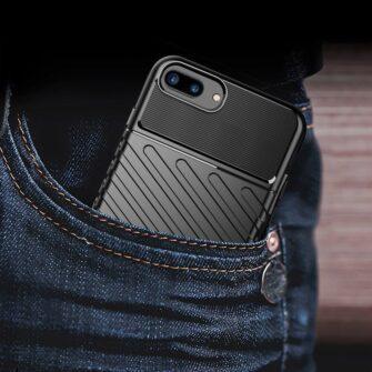 iPhone 8 Plus silikoonist ümbris must tugev 8