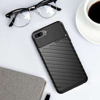 iPhone 8 Plus silikoonist ümbris must tugev 9