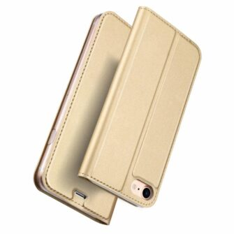 iPhone SE 2020 7 ja 8 kaaned DUX DUCIS Skin Pro Bookcase kuldne 4